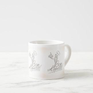 The Good Chef says Bon Appetit! 6 Oz Ceramic Espresso Cup