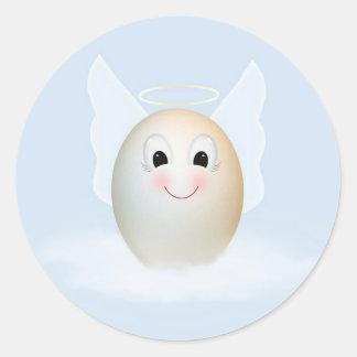 The Good Egg Angel Classic Round Sticker