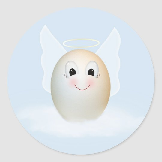 The Good Egg Angel Classic Round Sticker