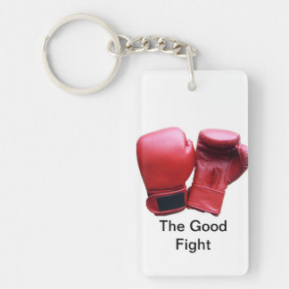 The Good Fight Rectangular Key Chain