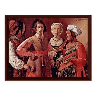 The Good Fortune By La Tour Georges De Postcard