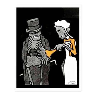 The Good Gentlemen Skeleton postcard
