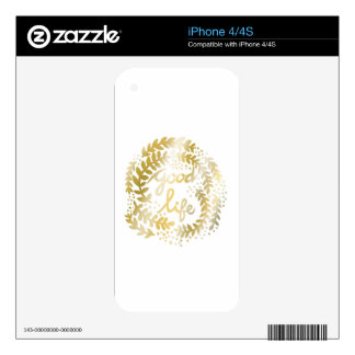 The Good Life iPhone 4S Skin