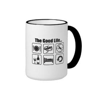 The good life ringer coffee mug