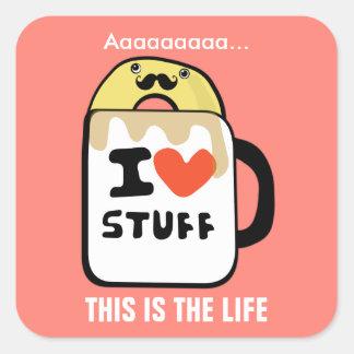 The Good Life Square Sticker