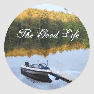 The Good Life Round Stickers