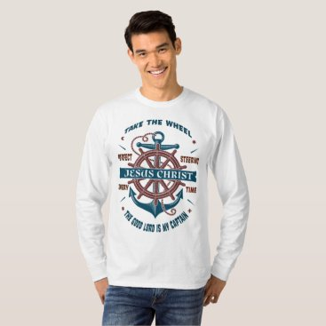 Beach Themed The Good Lord Is My Captain Men's Shirt