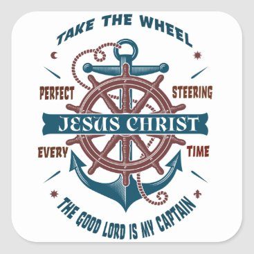 Beach Themed The Good Lord Is My Captain Stickers