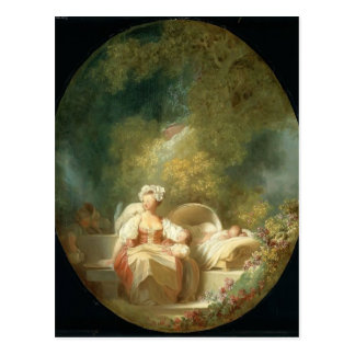 The Good Mother by Jean-Honore Fragonard Postcard
