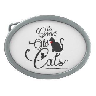 The Good Old Cats Logotype Belt Buckle