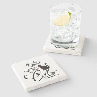 The Good Old Cats Logotype Stone Coaster