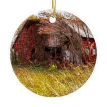 The Good Old Farming Days Ceramic Ornament