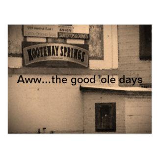 The good 'ole days postcard
