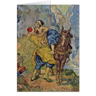 The Good Samaritan By Vincent Van Gogh Greeting Card