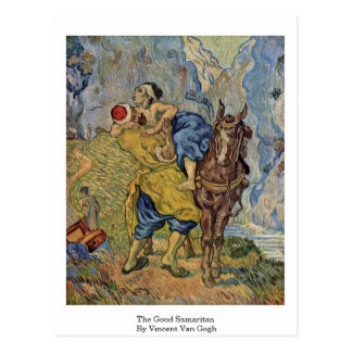 The Good Samaritan By Vincent Van Gogh Postcard
