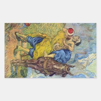 The Good Samaritan by Vincent Willem van Gogh Rectangular Sticker