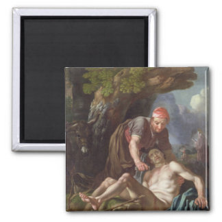 The Good Samaritan, c.1751-52 (oil on canvas) 2 Inch Square Magnet