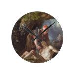 The Good Samaritan, c.1751-52 (oil on canvas) Round Wallclock