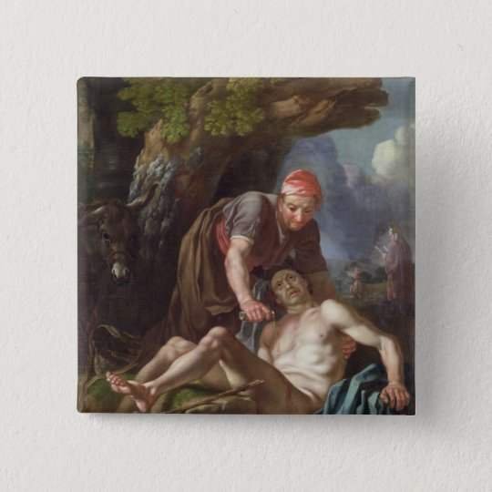 The Good Samaritan, c.1751-52 (oil on canvas) Pinback Button