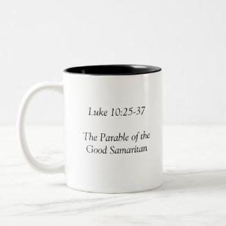 The Good Samaritan Coffee Cup Two-Tone Coffee Mug