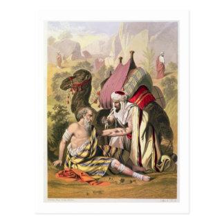 The Good Samaritan, from a bible printed by Edward Postcard
