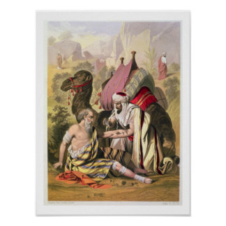 The Good Samaritan, from a bible printed by Edward Poster