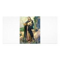 THE GOOD SHEPHERD 2 c. 1900 Card