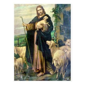 THE GOOD SHEPHERD 2 c. 1900 Post Card