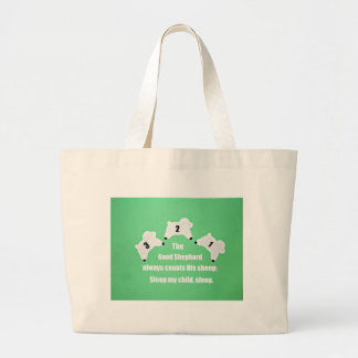 The Good Shepherd always counts His sheep... Canvas Bags