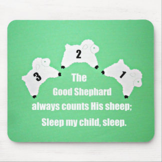 The Good Shepherd always counts His sheep... Mouse Pad