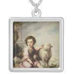 The Good Shepherd, c.1650 Square Pendant Necklace