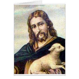 THE GOOD SHEPHERD c. 1900 Card