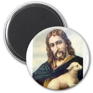 THE GOOD SHEPHERD c. 1900 2 Inch Round Magnet