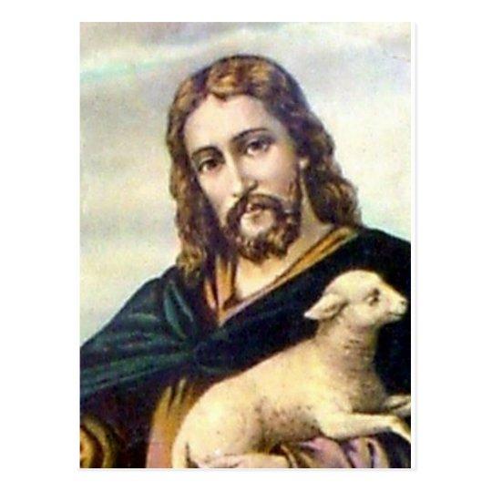 THE GOOD SHEPHERD c. 1900 Postcard