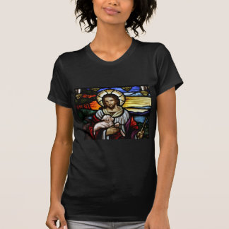The Good Shepherd; Jesus on stained glass T-Shirt