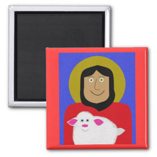 The Good Shepherd 2 Inch Square Magnet