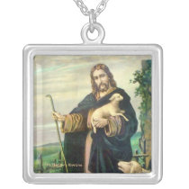 THE GOOD SHEPHERD SILVER PLATED NECKLACE