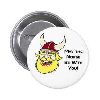 The Good Side of the Norse Pinback Button