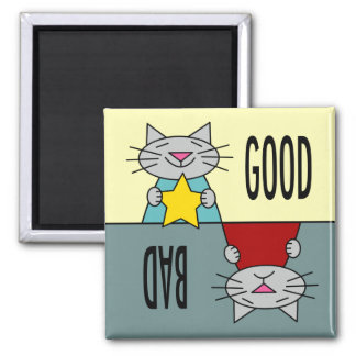 The Good, the Bad, and the Cute 2 Inch Square Magnet