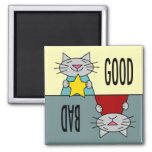 The Good, the Bad, and the Cute Refrigerator Magnet