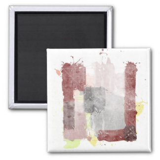 """The Good the Bad and the Idea [detail """"Idea""""] 2 Inch Square Magnet"""