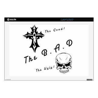 """The good, the bad and the ugly 17"""" laptop decal"""
