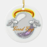 The Good vs Bad Egg Double-Sided Ceramic Round Christmas Ornament