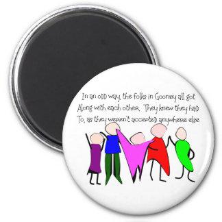 The GOONBY FOLKS--Story Art People Fridge Magnets