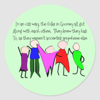 The GOONBY FOLKS--Story Art People Sticker