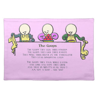 The Goops - Customizable Cloth Placemat