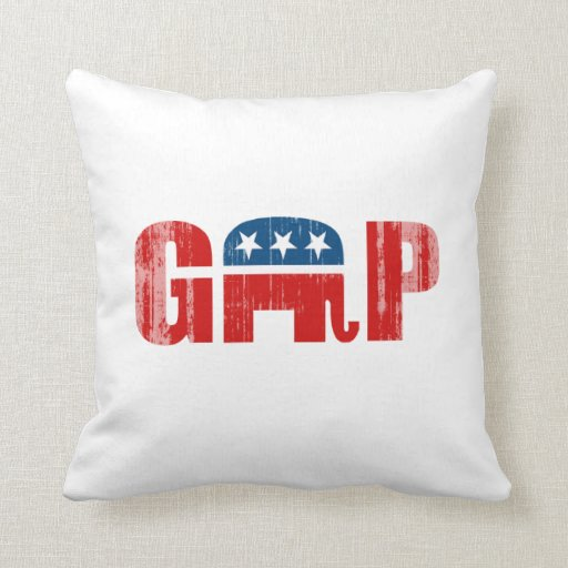 THE GOP Faded.png Throw Pillows