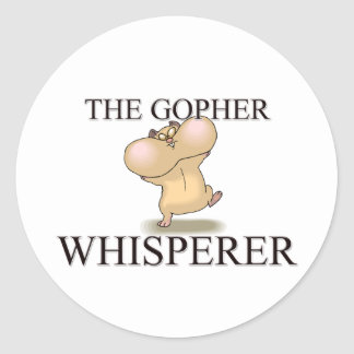 The Gopher Whisperer Classic Round Sticker