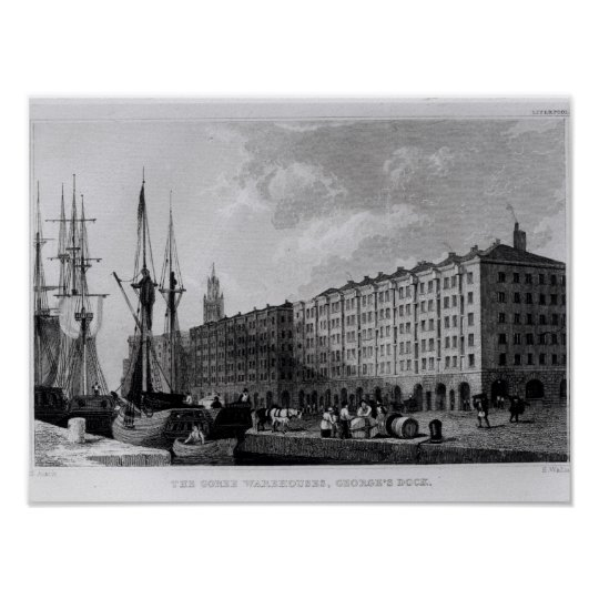 The Goree Warehouse, George's Dock, Liverpool Poster