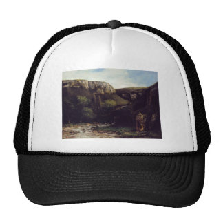 The Gorge by Gustave Courbet Trucker Hat
